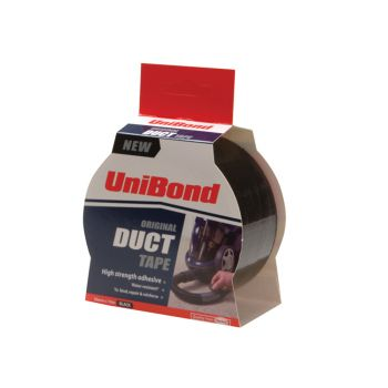 Unibond Duct Tape Black 50mm x 25m - UNI1517009