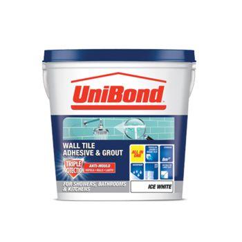 Unibond Tile On Walls Anti-Mould Ready Mix Adhesive & Grout Large - UNI1616660
