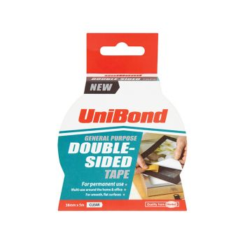Unibond Double Sided Tape 38mm x 5m - UNI1668253