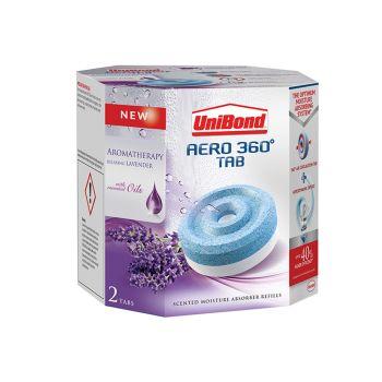 Unibond Aero 360 Moisture Absorber Aromatherapy Lavender Refills Pack of 2 - UNI2091273