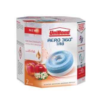 Unibond Aero 360 Moisture Absorber Aromatherapy Fruit Sensation Refills Pack of 2 - UNI2091538