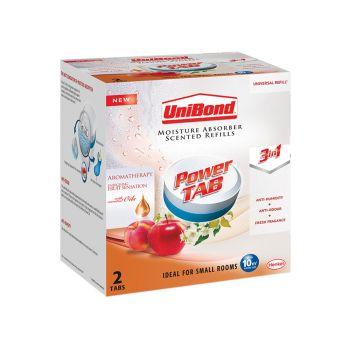 Unibond Small Moisture Absorber Spring Fruit Sensation Power Tab Refill Pack of 2 - UNI2092675