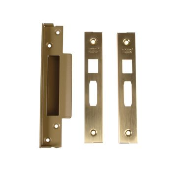 UNION StrongBOLT 2200 Mortice Sashlock Rebate Kit 13mm Polished Brass Box - UNNJ2200R05P