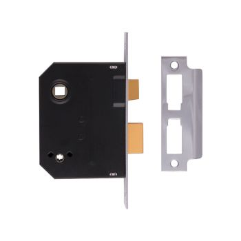 UNION 2294 Mortice Bathroom Lock Polished Brass 76mm 3in Visi - UNNY2294PL30