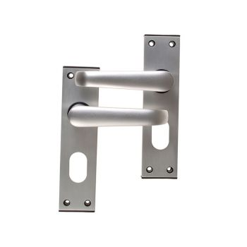 UNION Ambassador Oval Standard Plate Door Furniture Anodised Silver Visi Pack - UNNY366POAS