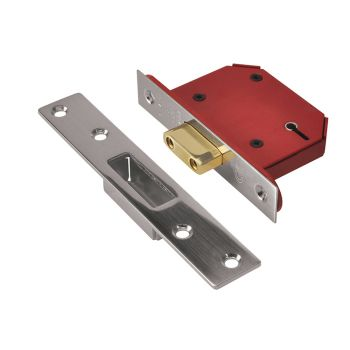 UNION StrongBOLT 2105S Stainless Steel 5 Lever Mortice Deadlock Visi 81mm 3in - UNNY2105SS30