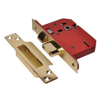 UNION StrongBOLT 2205S 5 Lever Mortice Sashlock Polished Brass 81mm 3in Visi - UNNY2205PB30