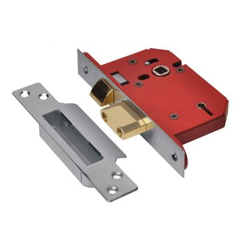 UNION StrongBOLT 2205S 5 Lever Mortice Sashlock Stainless Steel 81mm 3in Visi - UNNY2205SS30
