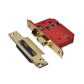 UNION StrongBOLT 22WCS Mortice Bathroom Lock Polished Brass 68mm 2.5in Visi - UNNY22WCPB25