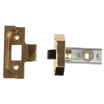 UNION Rebated Tubular Mortice Latch 2650 Electro Brass 63mm 2.5in - UNNY2650EB25