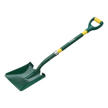 "Bulldog Bulldoza Fiberglass Square Mouth Shovel - D Handle 43"" - USASQM"