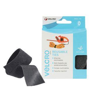 VELCRO Brand ONE-WRAP Reusable Ties 30mm x 5m Black - VEL60254