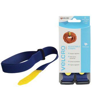 VELCRO Brand Adjustable Straps(2) 25mm x 92cm Blue - VEL60327