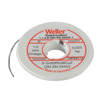 Weller EL60/40-25 Electronic Solder Resin Core 25g - WEL54002999