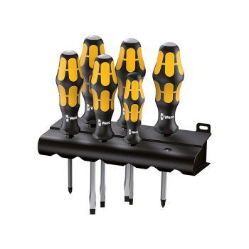 Wera 932/6 Kraftform Chiseldriver Set, 6 Piece SL/PH - WER018282