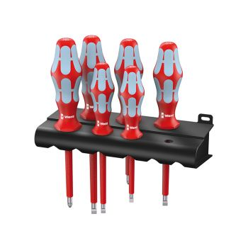 Wera Kraftform Plus VDE Stainless Steel Screwdriver Set of 6 SL/PZ - WER022745