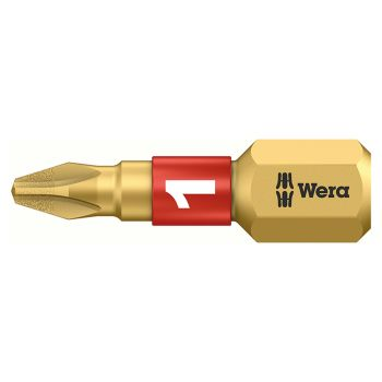 Wera 851/1 BDC Phillips BiTorsion PH1 Insert Bit Diamond Coated 25mm Carded - WER073332