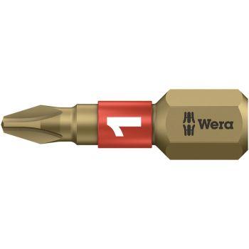 Wera 851/1 BTH BiTorsion Phillips PH1 Insert Bit Extra Hard 25mm Pack 10 - WER056410