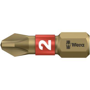 Wera 851/1 BTH BiTorsion Phillips PH2 Insert Bit Extra Hard 25mm Pack 10 - WER056412