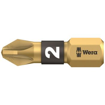 Wera 855/1 BDC BiTorsion Pozidriv PZ2 Bit Diamond Coated 25mm Card 2 - WER073339