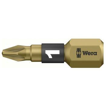 Wera 855/1 BTH BiTorsion Pozidriv PZ1 Insert Bit Extra Hard 25mm Pack of 10 - WER056710