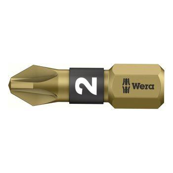 Wera Bit-Box 20 BTH BiTorsion Extra-Hard Bits PZ2 x 25mm 20 Piece - WER057762