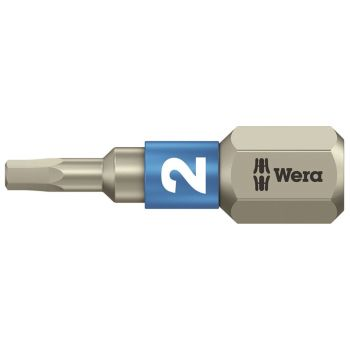 Wera 3840/1 TS Torsion Stainless Steel Insert Bit Hex 2.0 x 25mm - WER071071