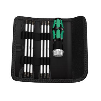 Wera Kraftform Kompakt RA SB Vario Ratchet Bit Holder Set, 7 Piece - WER073665