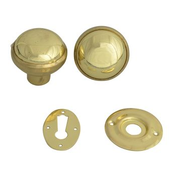 Yale P405 Rim Knob Polished Brass Finish - YALP405PB