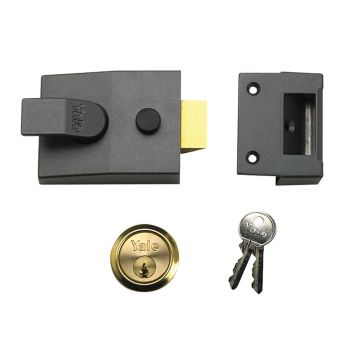 Yale P89 Deadlock Nightlatch 60mm Backset Brasslux Finish Visi - YALP89BLX