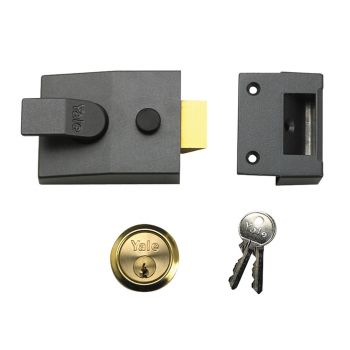 Yale P89 Deadlock Nightlatch 60mm Backset DMG Finish Satin Chrome Cylinder Visi - YALP89DMGSC