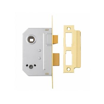 Yale PM236 Bathroom 2 Lever Sashlock Polished Brass 67mm 2.5in - YALPM236PB25