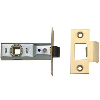 Yale M888 Tubular Mortice Latch 76mm 3in Polished Brass Pack of 1 - YALPM888PB30
