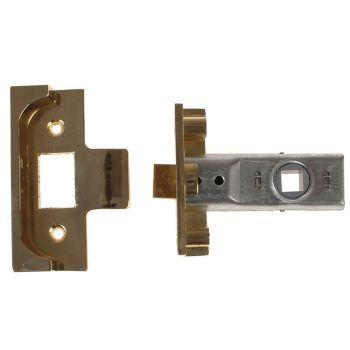 Yale M999 Rebate Tubular Latch 64mm 2.5 in Polished Brass Finish - YALPM999PB64