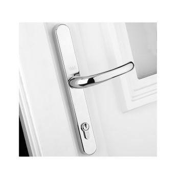 Yale Retro Door Handle PVCu Polished Chrome Finish - YALPPVCRHPC