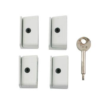 Yale 8K109 Window Stop White Pack of 4 Visi - YALV8K1094WE