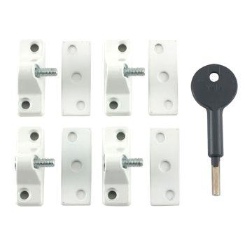 Yale 8K118 Economy Window Lock White Finish Pack of 4 Visi - YALV8K1184WE