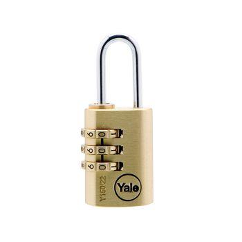 Yale Y150 22mm Brass Combination Padlock - YALY15022