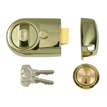 Yale Y3 Nightlatch Modern 60mm Backset Brasslux Finish Visi - YALY3BLXPB60
