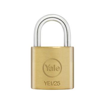 Yale YE1 Brass Padlock 25mm - YALYE125