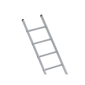 Zarges Industrial Single Aluminium Ladder With Stabilser Bar 4.73m 16 Rungs - ZAR41556