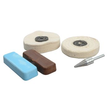 Zenith Profin Polishing Kit Non Ferrous Metal - Brown & Blue - ZENPFPK5