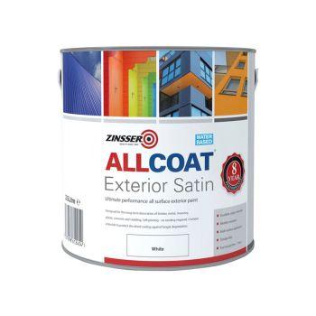 Zinsser ALLCOAT Exterior White 2.5 litre - ZINACEWH25L