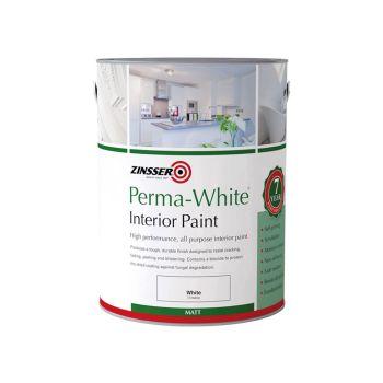 Zinsser Perma-White Interior Paint Matt 1 Litre - ZINPWES1L