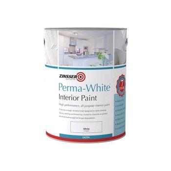 Zinsser Perma-White Interior Paint Satin 1 Litre - ZINPWIS1L