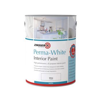 Zinsser Perma-White Interior Paint Satin 2.5 Litre - ZINPWIS25L