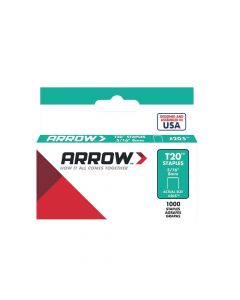 "Arrow T20 Staples 8mm 5/16"" (1000 Box) - 205"