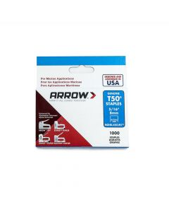 "Arrow T50 Monel Staples 8mm 5/16"" (1000 Box) - 505M1"