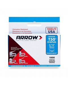 "Arrow T50 Stainless Staples 8mm 5/16"" (1000 Box) - 505SS1"