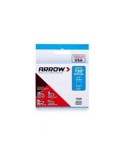 "Arrow T50 Staples 12mm 1/2"" (1250 Box) - 50824"